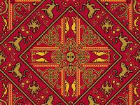 Muster des Teppichs aus Lenzen
